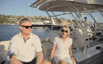 Barb & Karl on their Grady-White and Short Marine experience
